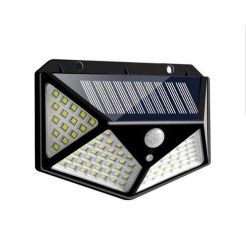 2 db-os kültéri, napelemes lámpa -100 LED, 7W, mozgásérzékelővel, IP65 -ös vízállóság