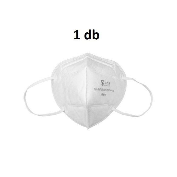 1db koronavírus szűrésére megfelelő lélegző Arcmaszk KN95 (FFP2) vedelmi szintű