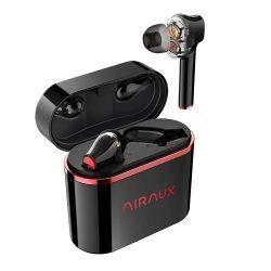 BlitzWolf® AirAux AA-UM5 - Słuchawki z podwójnym sterownikiem dynamicznym: sterowanie dotykowe, IPX5 - czarno-czerwone
