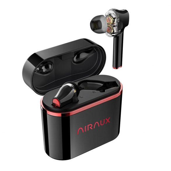 BlitzWolf® AirAux AA-UM5 - Dual Dynamic driver-es fülhallgató: érintésvezérlés, IPX5 - fekete-piros