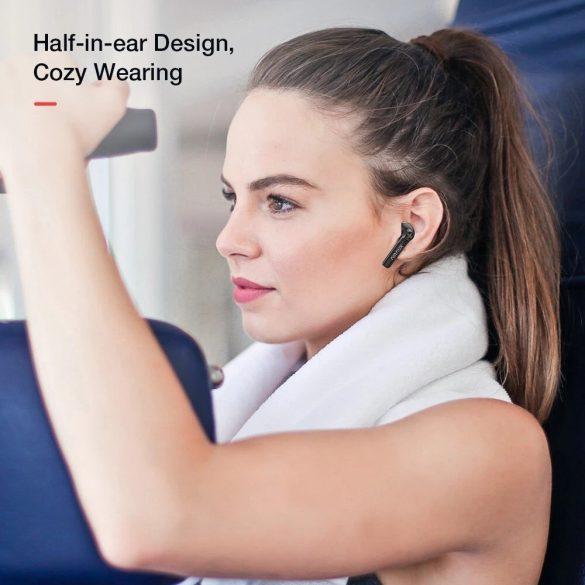 BlitzWolf® AirAux AA-UM7 fülhallgató - HiFi sztereó basszus, bluetooth 5.0, érintésvezérlés, IPX5 - fekete