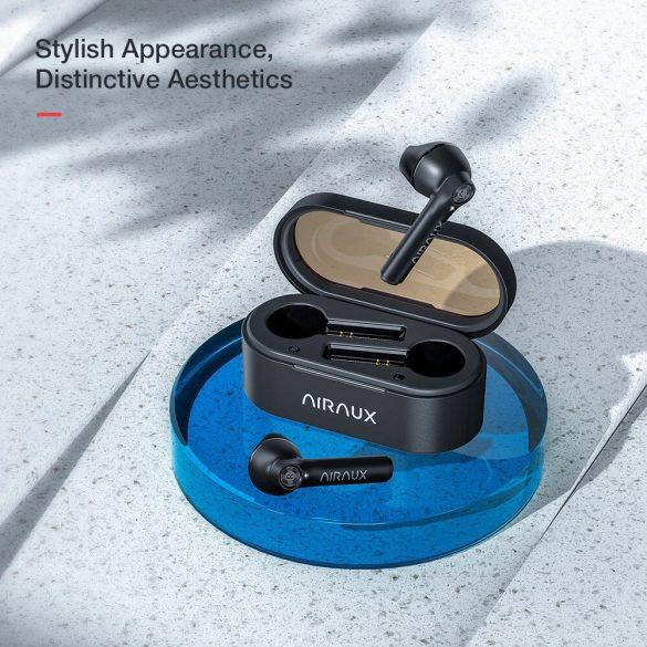 BlitzWolf® AirAux AA-UM7 - Słuchawki z podwójnym sterownikiem dynamicznym: sterowanie dotykowe, IPX5 - czarno-czerwone