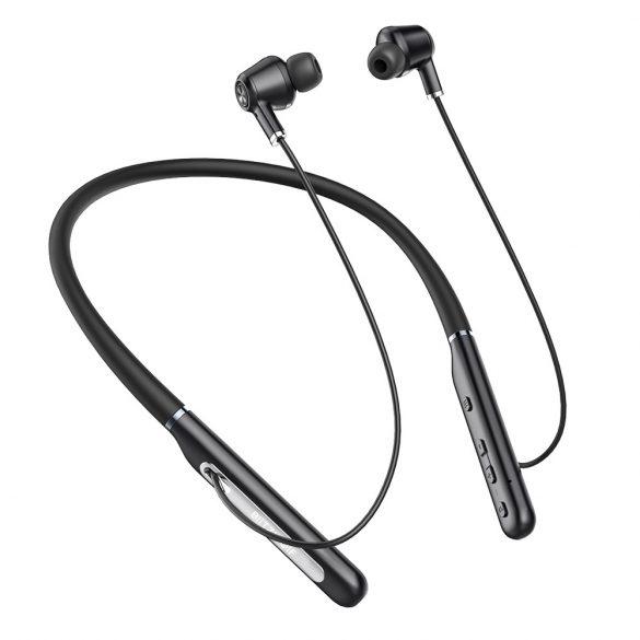 Blitzwolf® BW-ANC2 - Aktív zajszűrős, IPX5 vízálló Bluetooth sport mágneses headset mikrofonnal alu házban