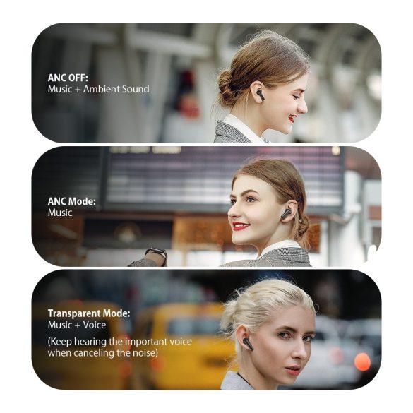 Blitzwolf® BW-ANC3 - Aktív zajszűrős, félhosszú Bluetooth fülhallgató. gyönyörű hangzás, 6 óra működési idő