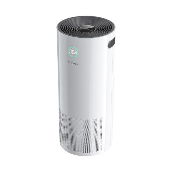 BlitzWolf® BW-AP2 Smart ionizációs légtisztitó - 500m³ óránként, 3 az 1-ben szűrő, csendes üzemmód