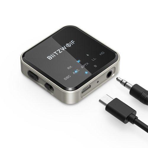BlitzWolf® BW-BL3 - Bluetooth transzmitter (vevő és fogadó egyben) ANC,