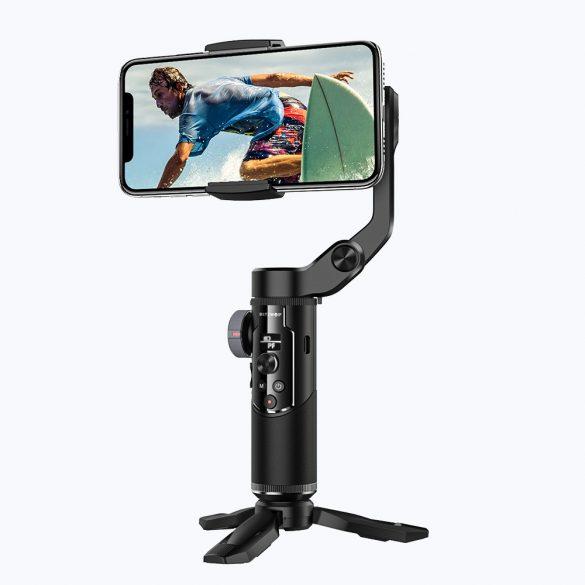 BlitzWolf® BW-BS14 Pro Motoros szelfi bot - autómata arckövetés, rezgésmentes videó készítés, APP irányítás