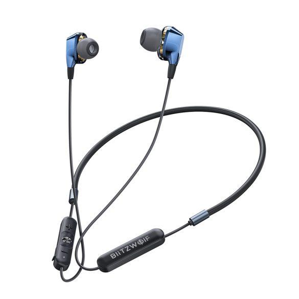 Blitzwolf® BW-BTS4 IPX5 vízálló Bluetooth sport mágneses headset mikrofonnal alu házban