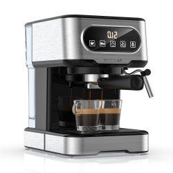 BlitzWolf® BW-CMM2 presszó kávéfőző - 20 bar, 1100W, érintőgombok