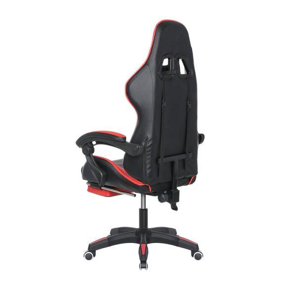 BlitzWolf BW-GC1 Kék Gamer szék - 150°-ban állítható, párnázott kéztartó, gerinctartó párna
