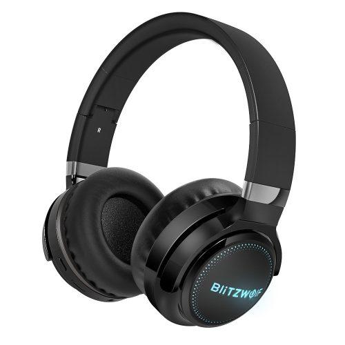 BlitzWolf® BW-HP0 Pro fejhallgató - 42 óra lejátszási idő, HiFi Sound System, RGB világítás