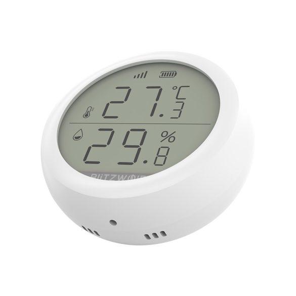 Blitzwolf® BW-IS4 Okos hőmérséklet és páratartalom érzékelő - ZigBee irányítással, akkuval