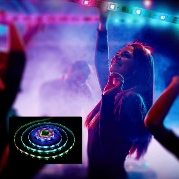 BlitzWolf® BW-LT31 smart LED-fénycsík - 5m /10m hossz,  App és IR távirányítás, zene mód, számtalan effekt