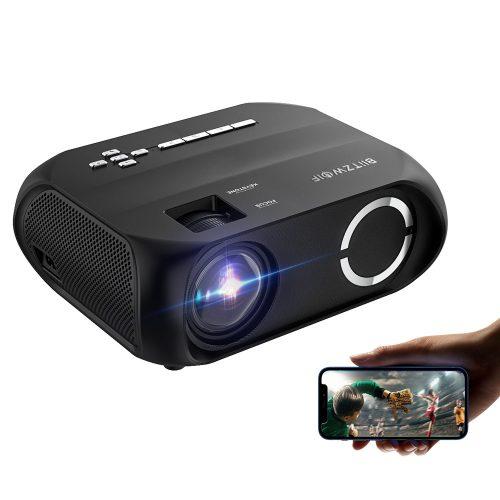 BlitzWolf® BW-VP11 - 720P, 6000 Lux - Házimozi projektor vezeteték nélküli + USB támogatással, beépített hangszóróval