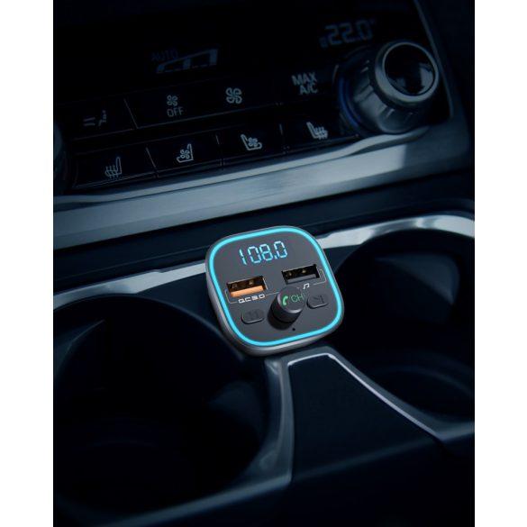 BlitzWolf® BW-BC1 - szivargyújtóba dugható autós USB töltő és FM transzmitter