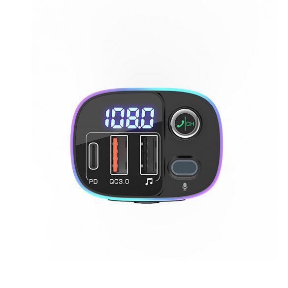 BlitzWolf® BW-BC2 - szivargyújtóba dugható autós USB töltő és FM transzmitter