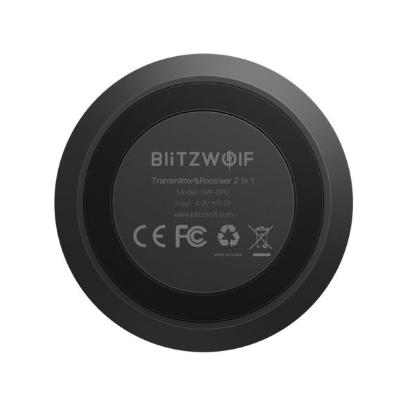 Bluetooth V4.1 aptX™ Bluetooth zene vevő és fogadó egység egyben (2 in 1) - BlitzWolf® BW-BR3