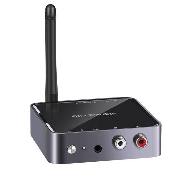 Bluetooth V5.0 aptX HD™ Bluetooth zene vevő és fogadó egység egyben (2 in 1) - BlitzWolf® BW-BR4