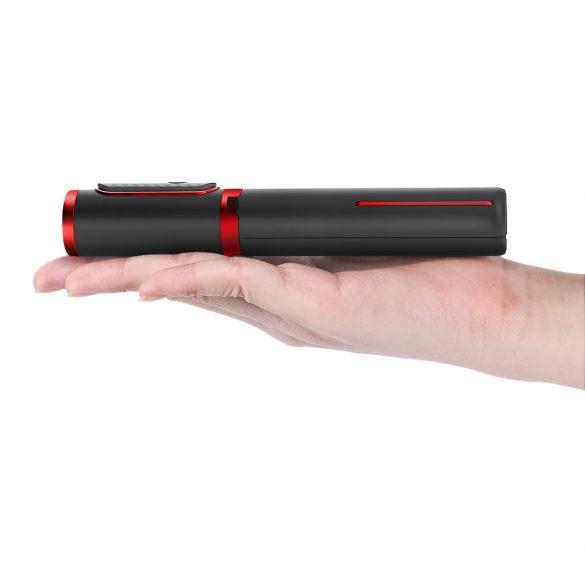 Minden egyben: Tripod és szelfi bot - BlitzWolf® BW-BS10 720 mm hossz, visszahúzható állvánnyal, rejtett telefontartóval, kivehető távirányítóval