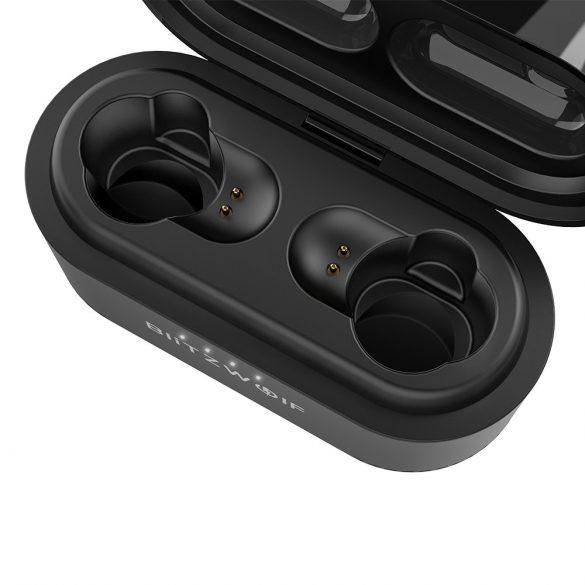 BlitzWolf® BW-FYE7 - Töltődobozos (TWS), Dual Dynamic Driver Bluetooth fülhallgató IPX4-os vízállósággal