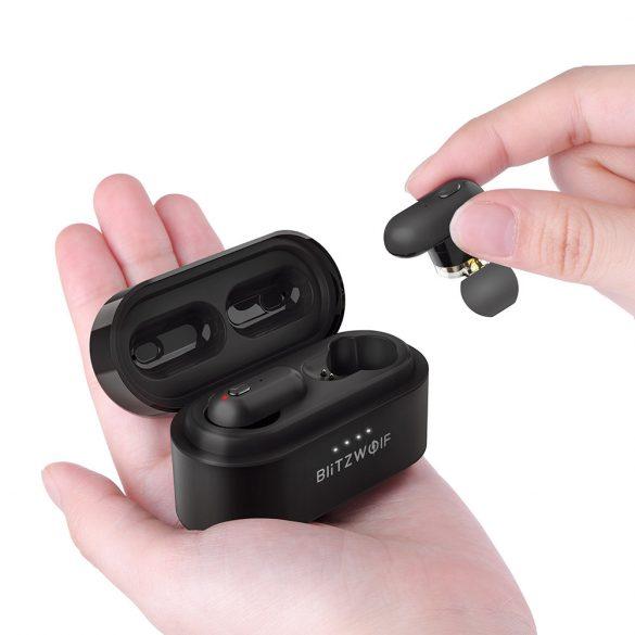 Töltődobozos (TWS), Dual Dynamic Driver Bluetooth fülhallgató IPX4-os vízállósággal - BlitzWolf® BW-FYE7