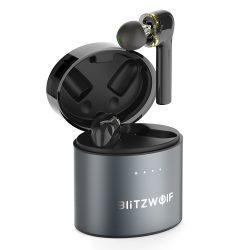 BlitzWolf® BW-FYE8 - Töltődobozos (TWS) hosszított, Bluetooth grafén fülhallgató.