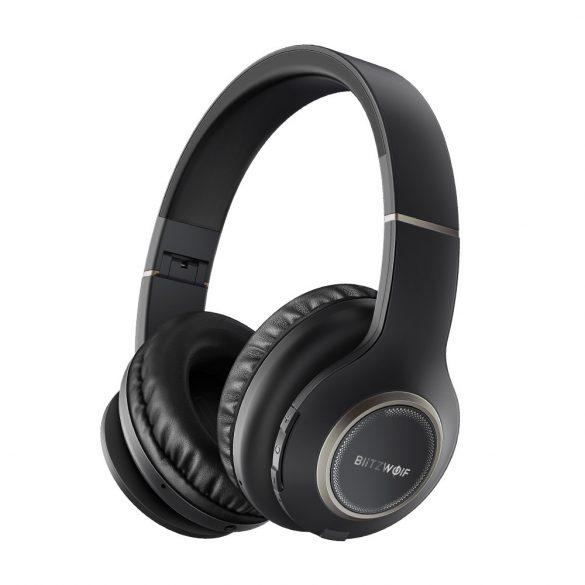 Vezeték nélküli, Bluetooth fejhallgató hosszú akku idővel, dual chanel sztereo hangzással - BlitzWolf® BW-HP0