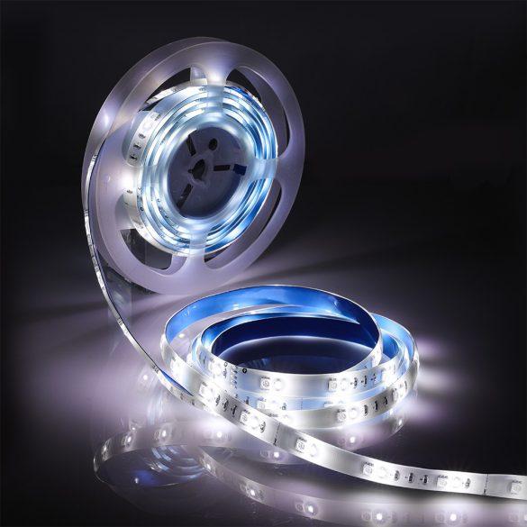 Okos LED fénycsík - BlitzWolf® BW-LT11 smart LED-fénycsík, 4000K színhőmérséklet, RGB szín, Alexa és Google asszisztenssel, APP vezérlővel, IP44 vízálló