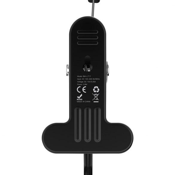 Csíptethető flexibilis tanuló LED lámpa (200lm) érintő gomb, 3 fényerő, 4000K - BlitzWolf® BW-LT17