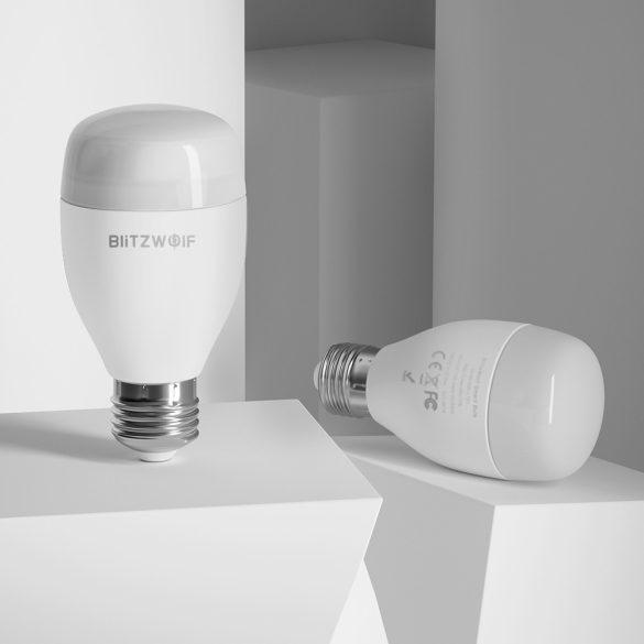 Okos LED wifis izzó + távirányító- BlitzWolf® BW-LT27 E27, 900 lm, 10W, 2700-6500K, App és infravörös irányítás