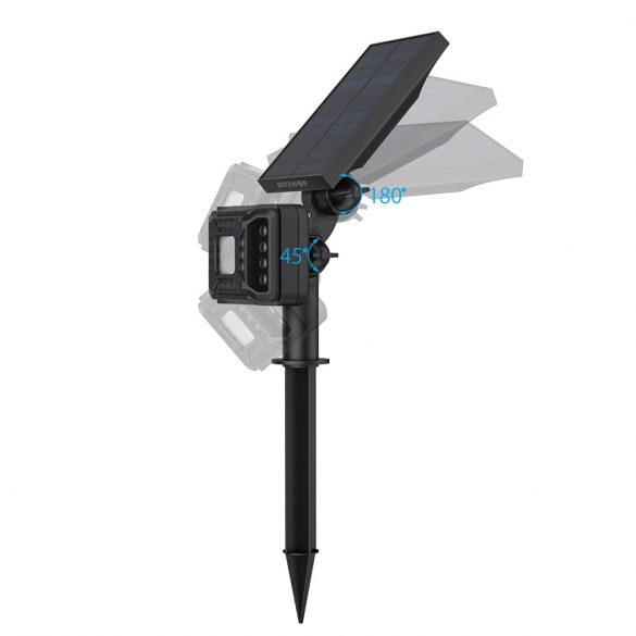 Kültéri, napelemes lámpa - BlitzWolf BW-OLT2 mozgásérzékelővel, IP44 -es vízállóság