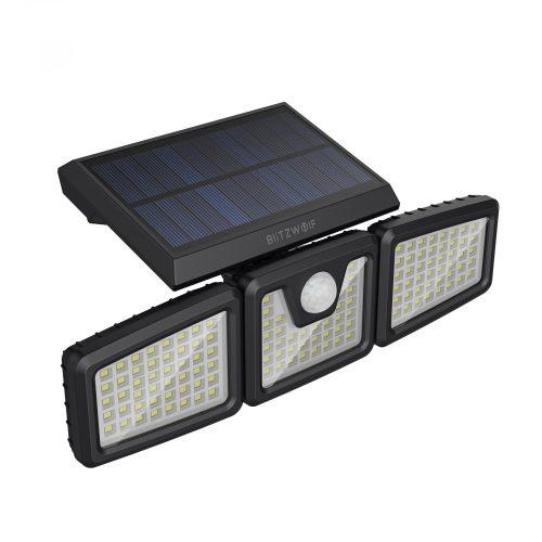 BlitzWolf BW-OLT4 - 3 világító paneles kültéri, napelemes lámpa - mozgásérzékelővel, IP64 -es vízállóság