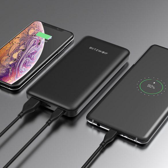Gyorstöltős USB Type C Power Bank 18W 10000mAh BlitzWolf® BW-P9 Qualcomm Quick Charge 3.0 és PD3.0 gyorstöltés