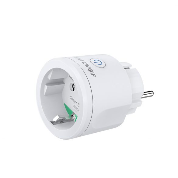 Blitzwolf® BW-SHP13 ZigBee 3.0 Wifis okos aljzat - 220V, 16A,  Fogysztásmérő, Amazon Echo, Google Home és IFTTT integrálhatóság