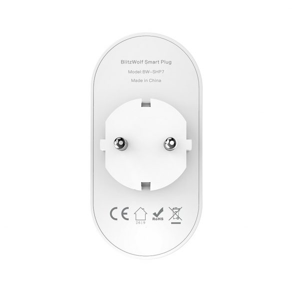 Blitzwolf® BW-SHP7 Wifis 220 Volt-os dupla okos aljzat külön -külön irányíthatósággal - Amazon Echo, Google Home és IFTTT integrálhatóság