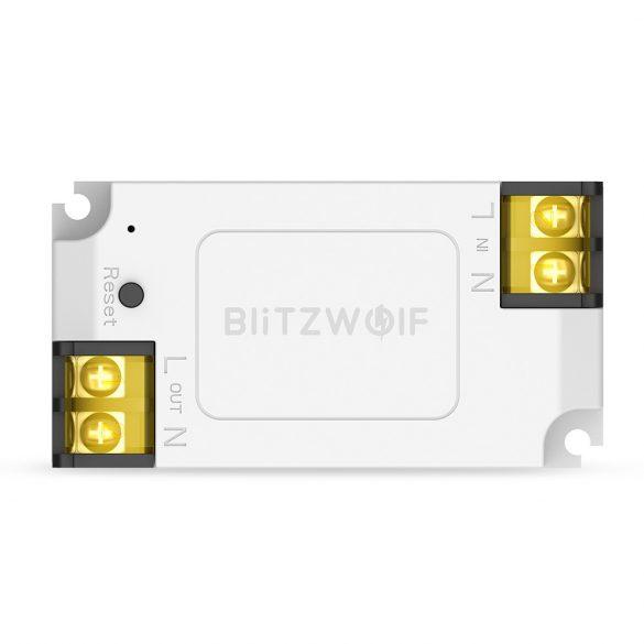 Blitzwolf® BW-SS1 Wifis okos SMART vezérlő - 15A/3300W Max terhelhetőség, Applikációs irányítás, időzítés, hang utasítás: Amazon Echo, Google Home és IFTTT integrálhatóság