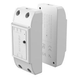Blitzwolf® BW-SS4 2 kapcsolós vezérlő, Wifis  - 2x 10A Max terhelhetőség, Applikációs irányítás, időzítés, hang utasítás: Amazon Echo, Google Home és IFTTT integrálhatóság