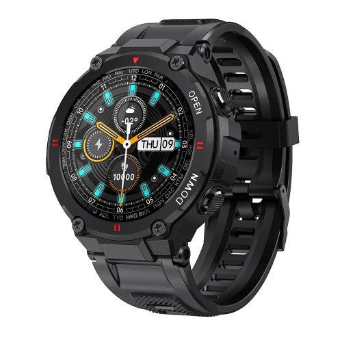 Blitzwolf® BW-AT2C (czarny) Inteligentny zegarek z wbudowanym mikrofonem i głośnikiem z niezliczonymi funkcjami trybu aktywności