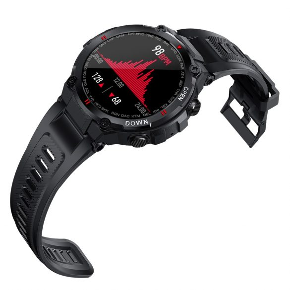 Blitzwolf® BW-AT2C (Szürke) Okos óra beépített mikrofon és hangszóró a számtalan aktivitásmő funkció mellett