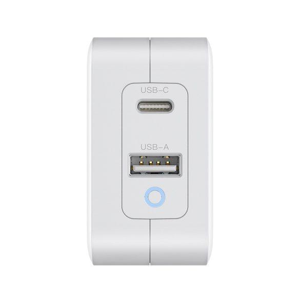 BlitzWolf® BW-S18: GaN Tech Quick Charger PD3.0, 65W,  hálózati USB töltő (1x USB-C + 1x USB-A)