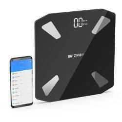 Blitzwolf® BW-SC3 Okos mérleg - 13 féle érték, testzsír százalék, BMI stb. személyre szabott történet követés applikációval, USB töltés