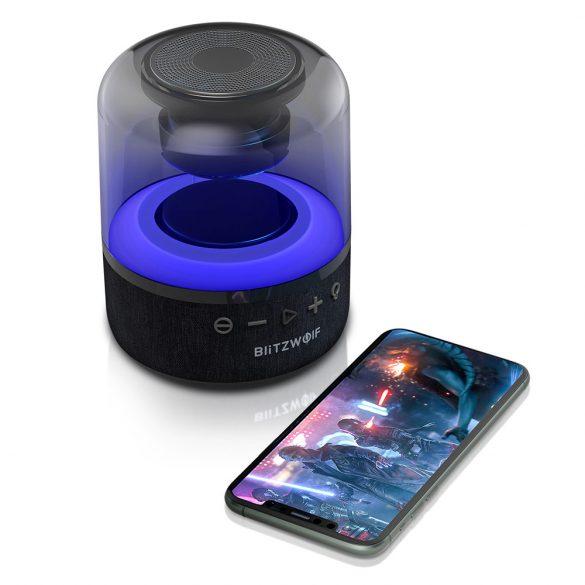 BlitzWolf® BW-AS4 Bluetooth -os RGB világításos hangszóró, 20W, 5 óra lejátszási idő, erős basszus