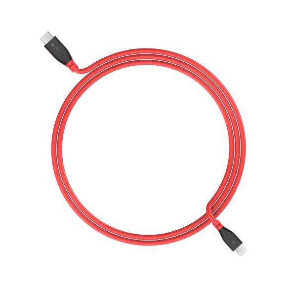 PD 3.0 kábel: USB C - Apple Lightning - BlitzWolf® BW-CL2 MFi tanúsítvány 3A-es PD töltés
