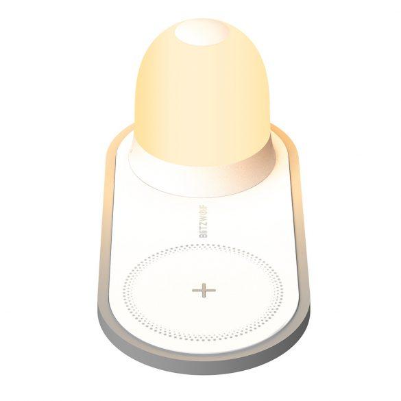 BlitzWolf® BW-LT26 10W-os vezeték nélküli töltő + levehető éjjeli lámpa