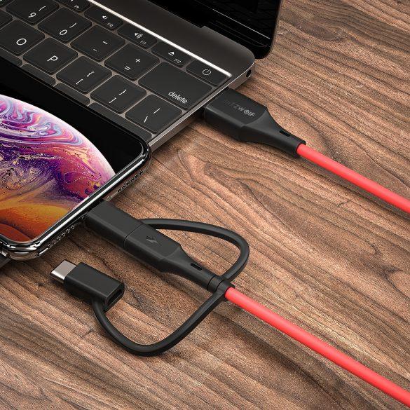 3 in 1: Lightning, Type C, Micro USB kábel - BlitzWolf® BW-MT4