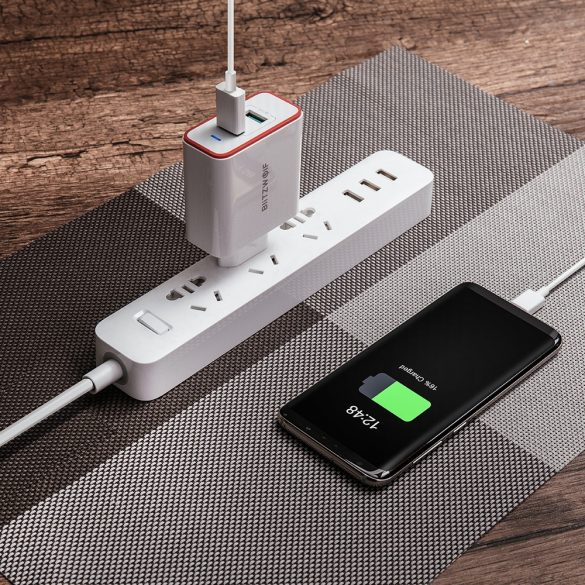 BlitzWolf® BW-PL3 36W QC3.0 Încărcător USB cu două porturi Adaptor UE cu Power3S Tech - alb