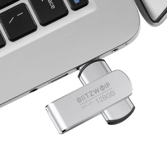 USB 3.0 Pen Drive - BlitzWolf® BW-UP1 - Alumínium ház, 128 GB