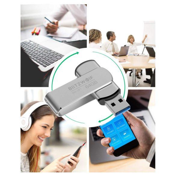 USB 3.0 Pen Drive - BlitzWolf® BW-UP1 - Alumínium ház, 64 GB