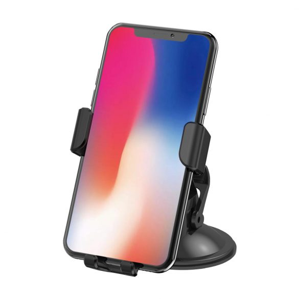 BlitzWolf® BW-CW1 - Autós telefon tartó és vezeték nélküli gyorstöltő egyben - minden wireless charging - QI szabványt támogató telefonhoz