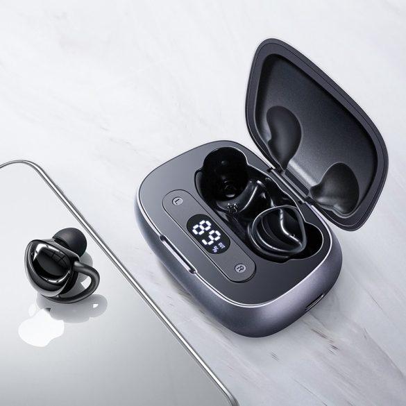 JOYROOM JR-T10 fekete - Töltődobozos Hi-Fi Bluetooth fülhallgató, Airoha chip, aluminium ház, nagy akku kapacitás